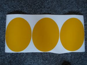 Aufkleber oval Gelb/Sticker Oval Yellow/Autocollant ovale jaune