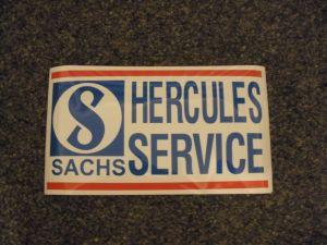Hercules/Sachs/Service Aufkleber