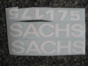 Abziehbild SACHS175/Decal/Decalcomanie